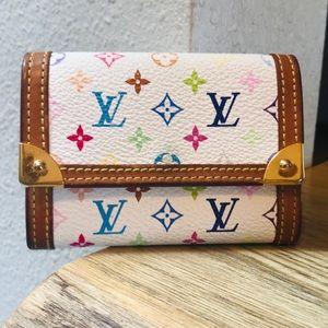 Authentic Louis Vuitton Multicolor Porte Monnaie